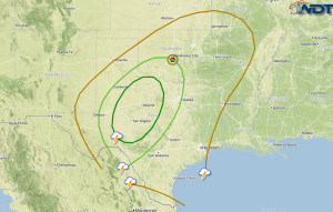 Severe Weather Potential For the Southern Plains and Gulf Coast Friday and Saturday
