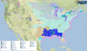 National Weather Summary for Thursday,  January 8, 2015