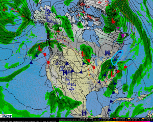 National Weather Summary for Monday, January 26, 2015