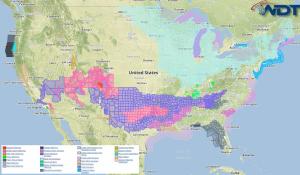 National Weather Summary for Monday, February 23, 2015