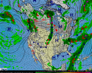 National Weather Summary for Friday, May 1, 2015