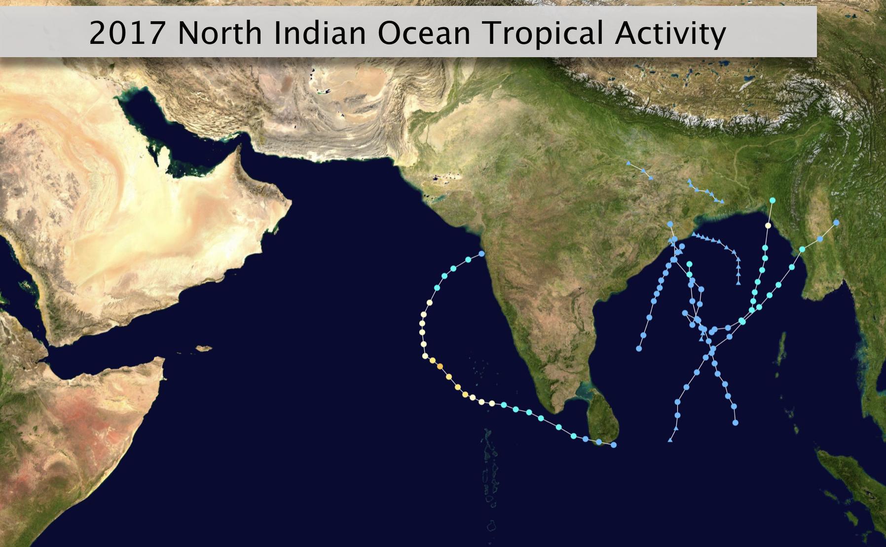 2017 N Indian Ocean Tropical Activity