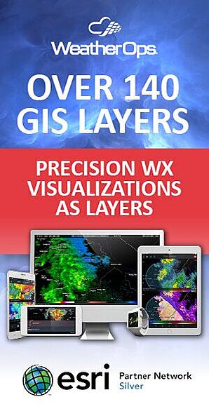Over 140 GIS layers - Precision WX visualization. Esri Silver Partner. Click here to learn more.