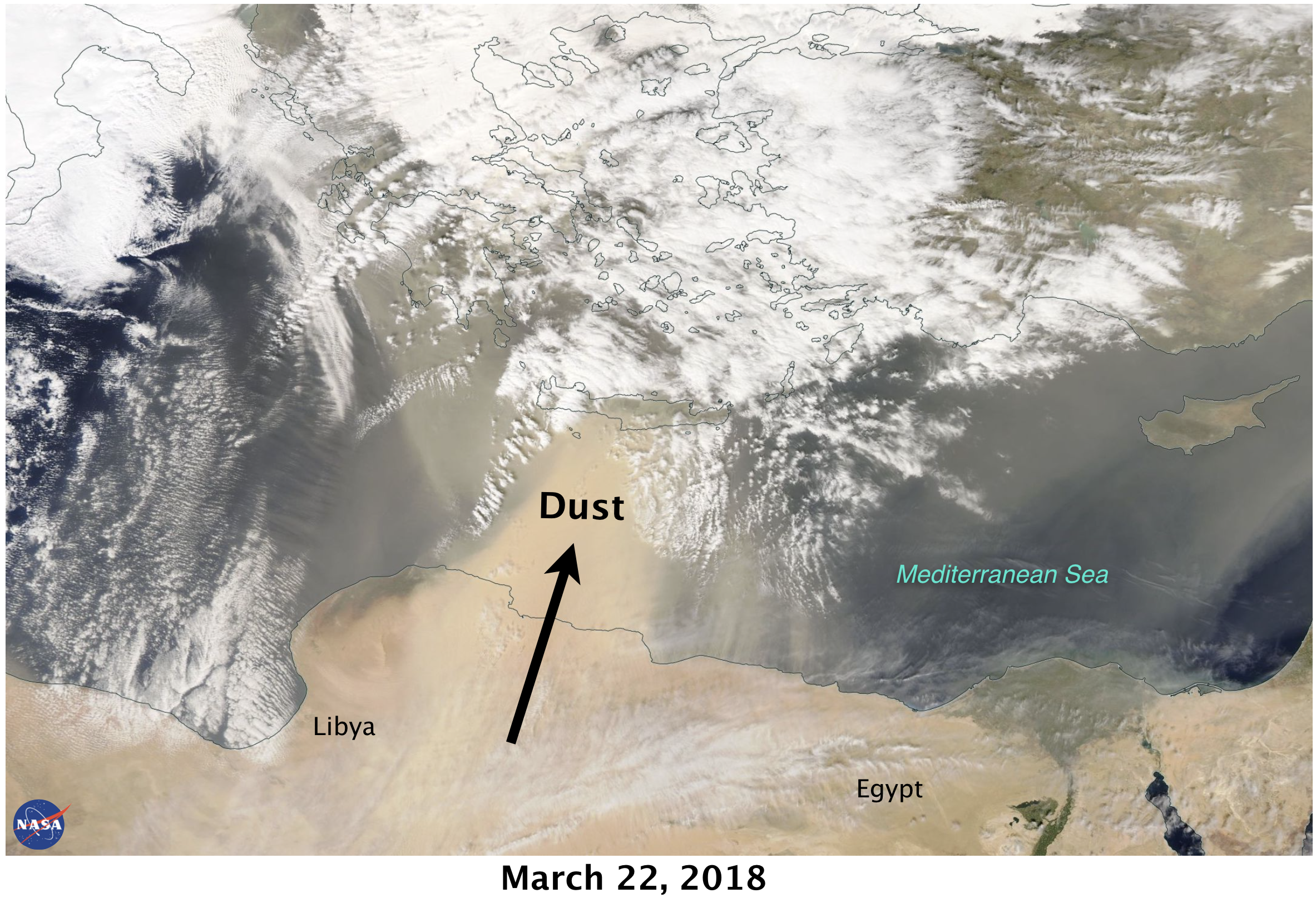 22 March Aqua Visibile Satellite
