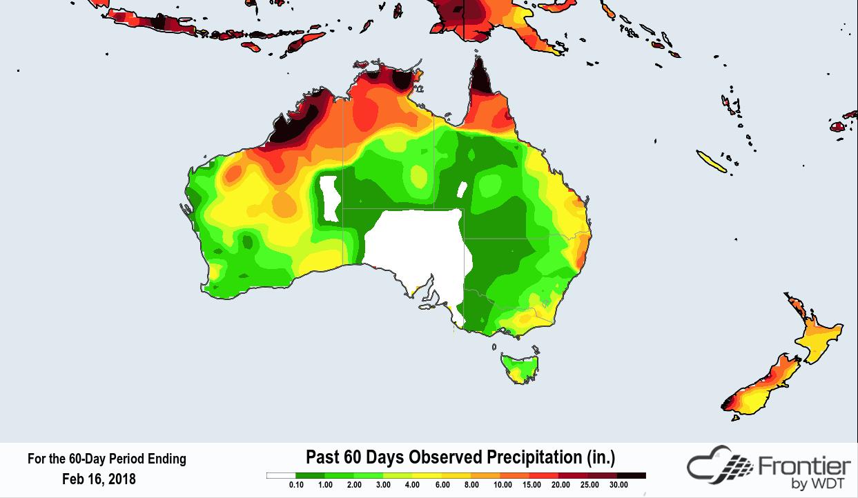 Frontier 60 Day Rainfall Australia