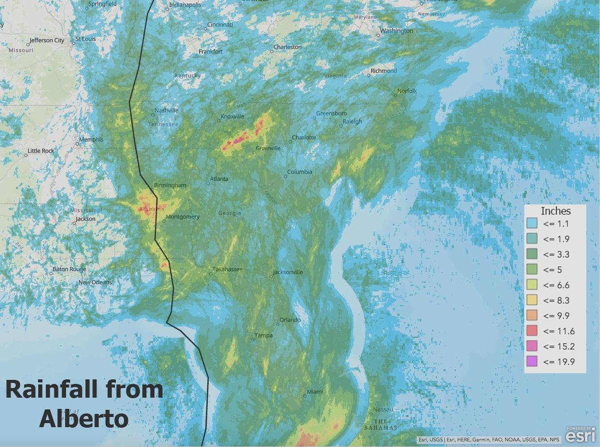 Alberto Rainfall Using GIS