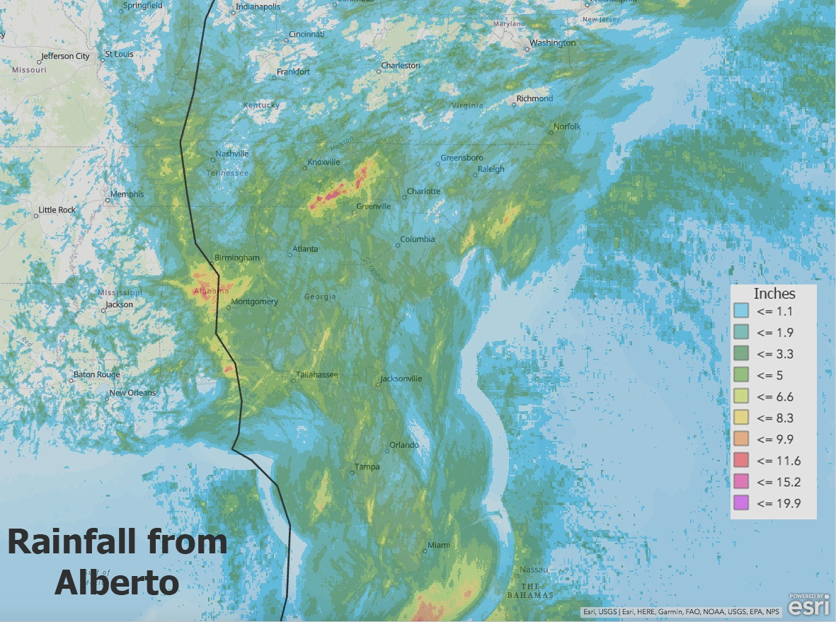 Alberto Rainfall Using GIS