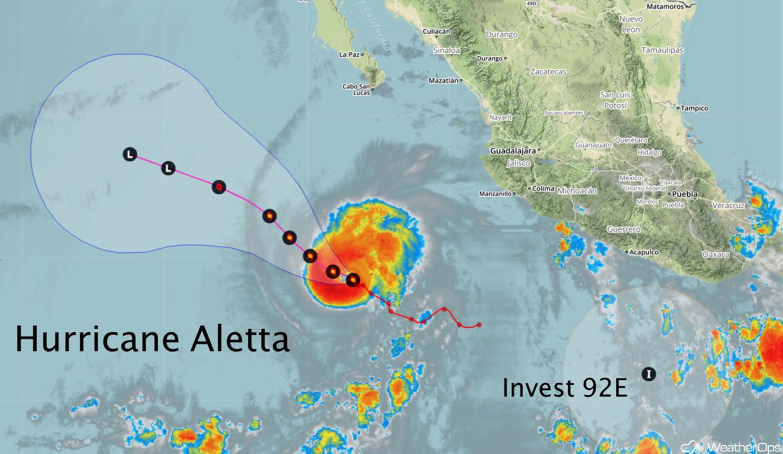 Hurricane Aletta -June 8, 2018