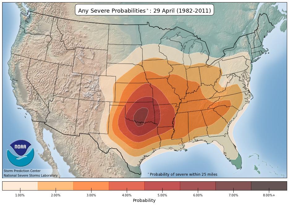 April Severe Probabilities