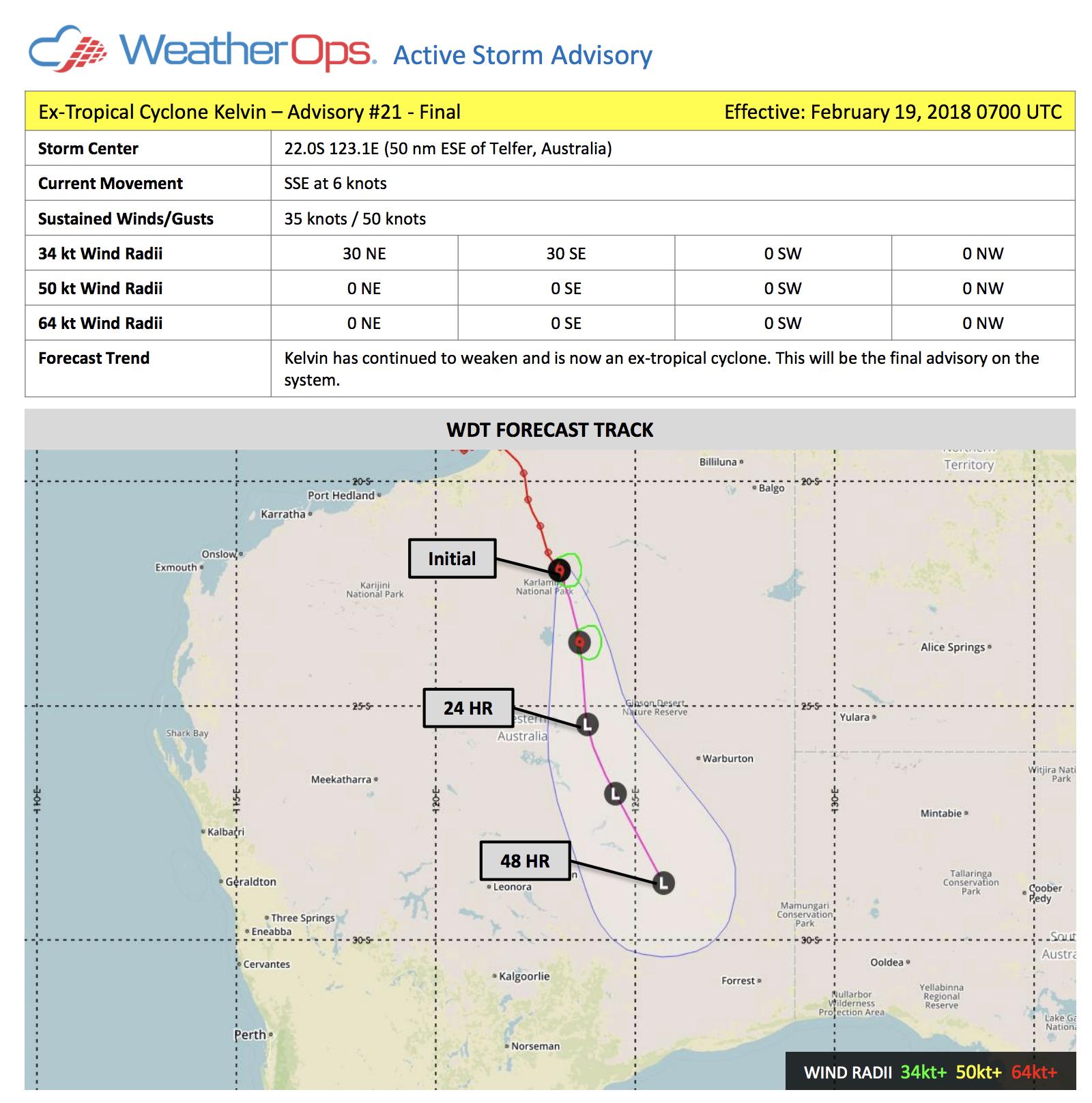 WeatherOps Australia Storm Advisory