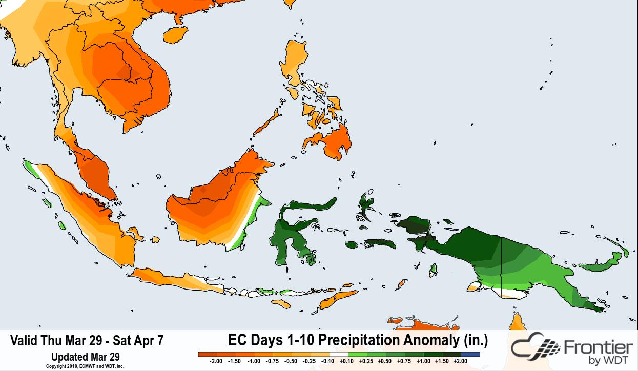 ECMWF 10 Day Precip Anomaly