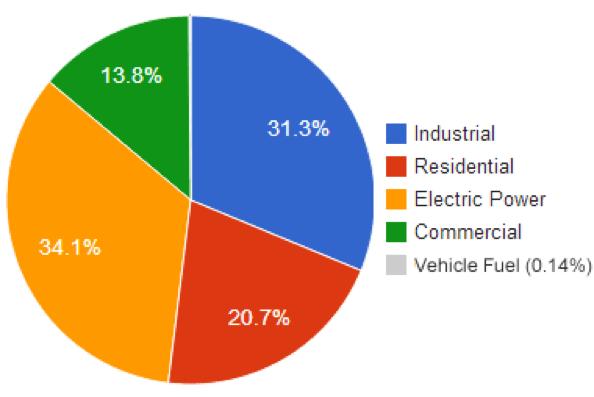Natural Gas Pie Chart