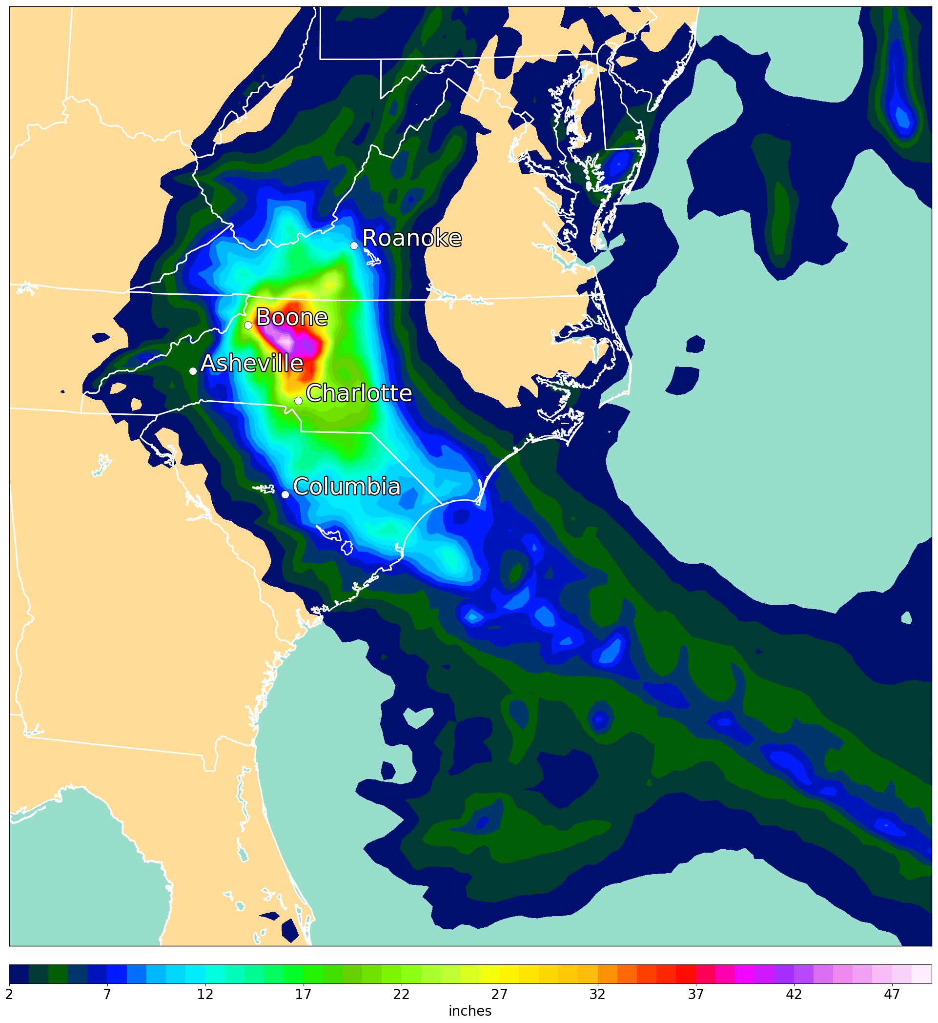 Rainfall Forecast Valid on Sept 20th