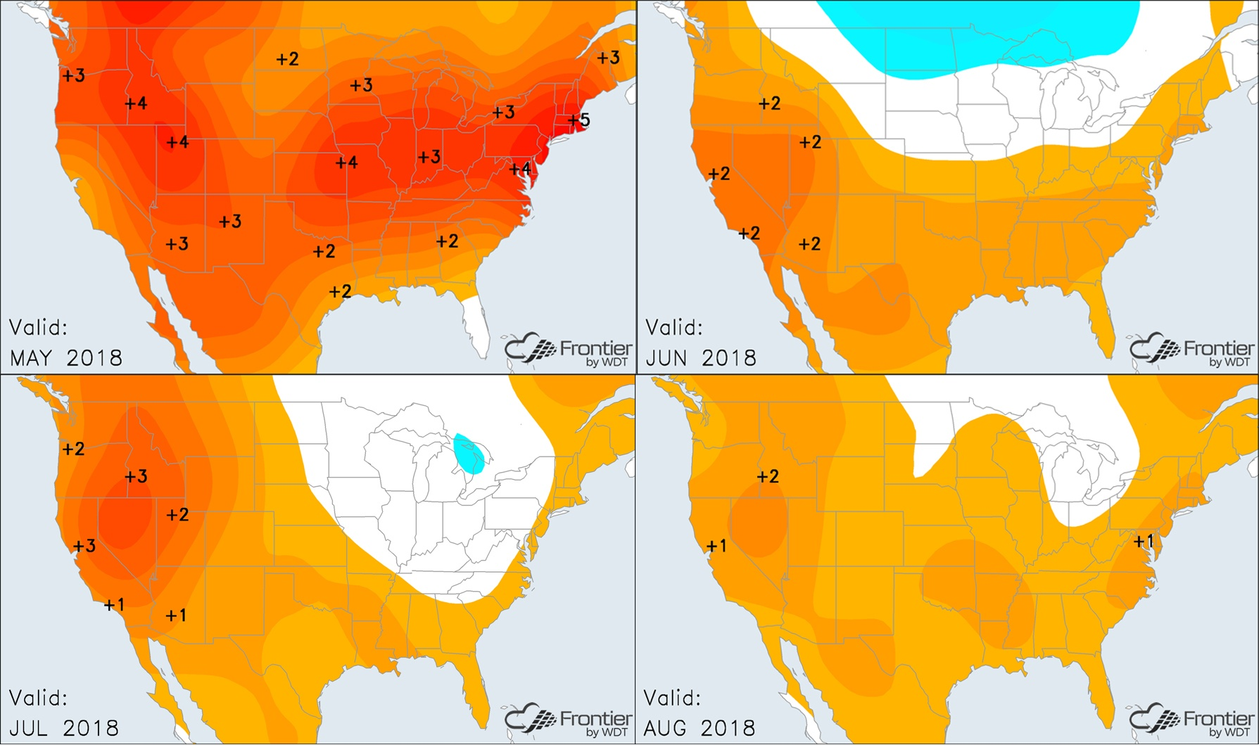 Frontier Summer Temperature Anomalies