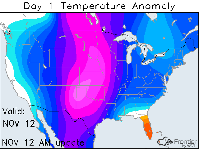 Day 1 Temperature Anomaly
