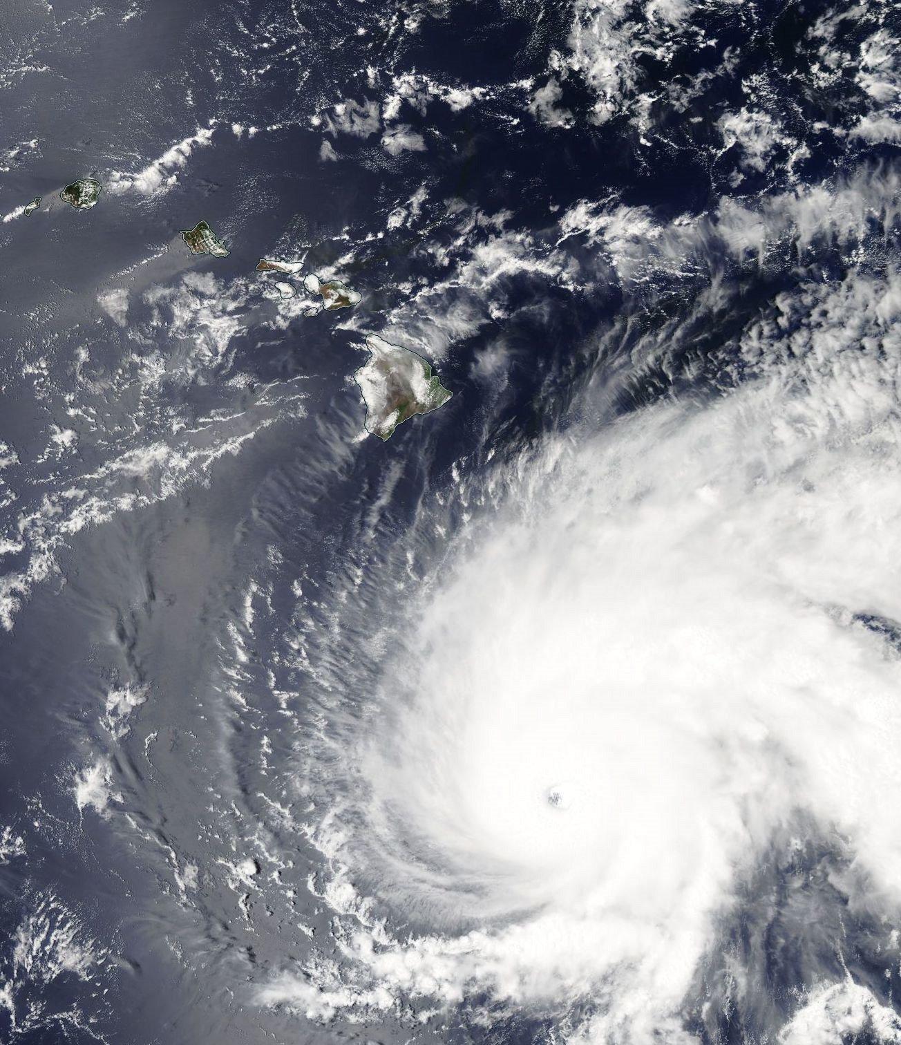 Hurricane Lane on Visible Satellite