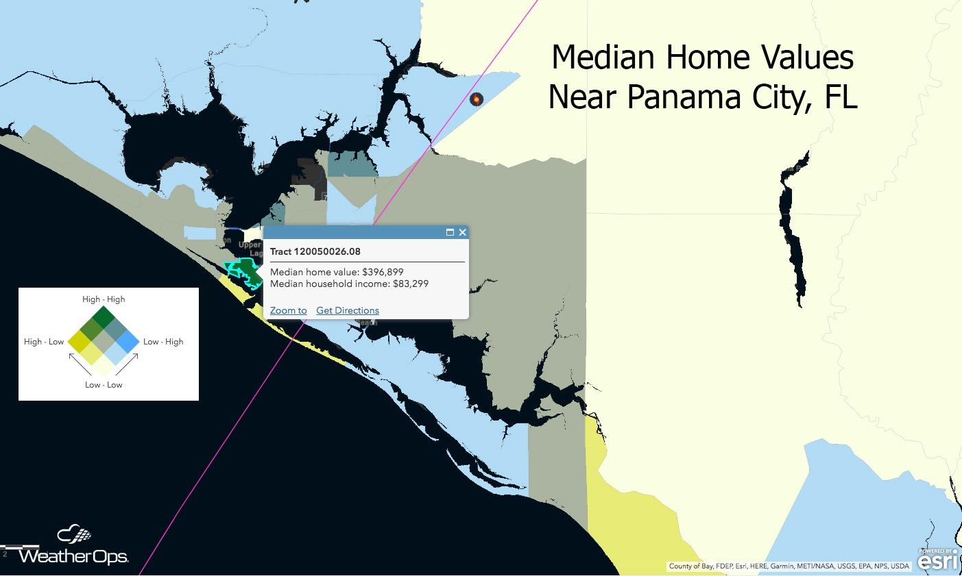 Median Home Values Near Panama City