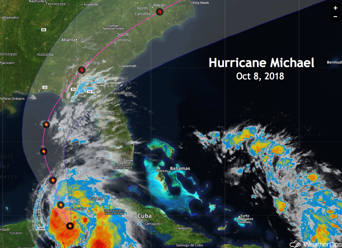 Forecast Track of Hurricane Michael