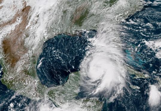 Hurricane Michael on Visible Satellite - Oct 8, 2018