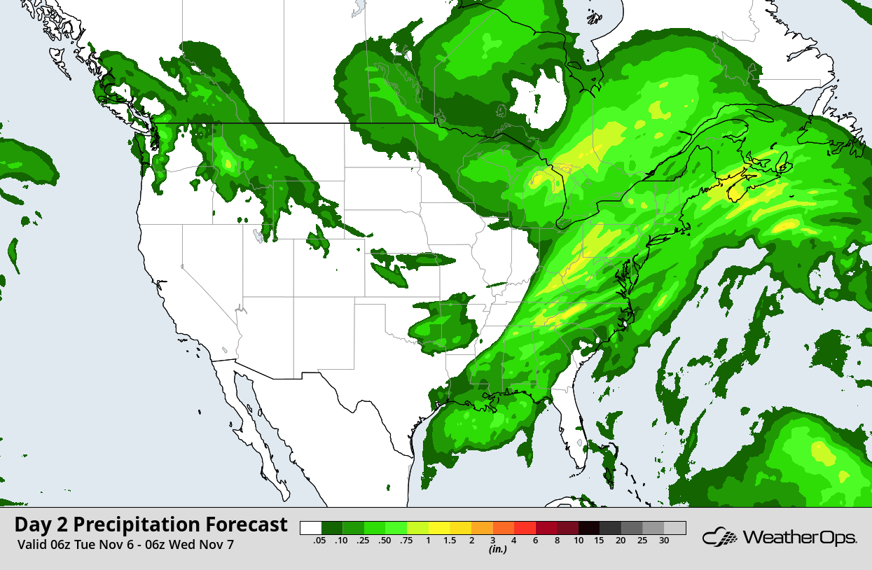 QPF for Election Day