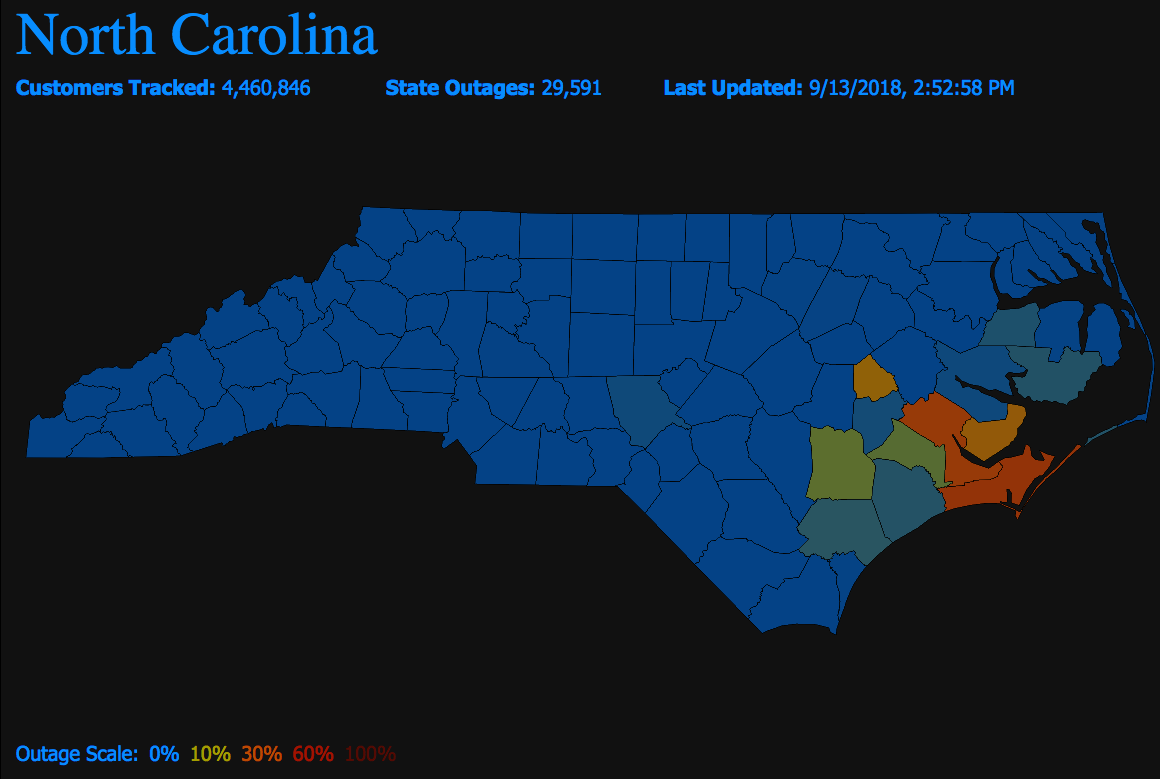 North Carolina Power Outages