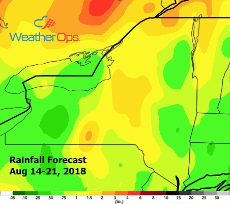 WeatherOps Forecast for Aug 14-21, 2018