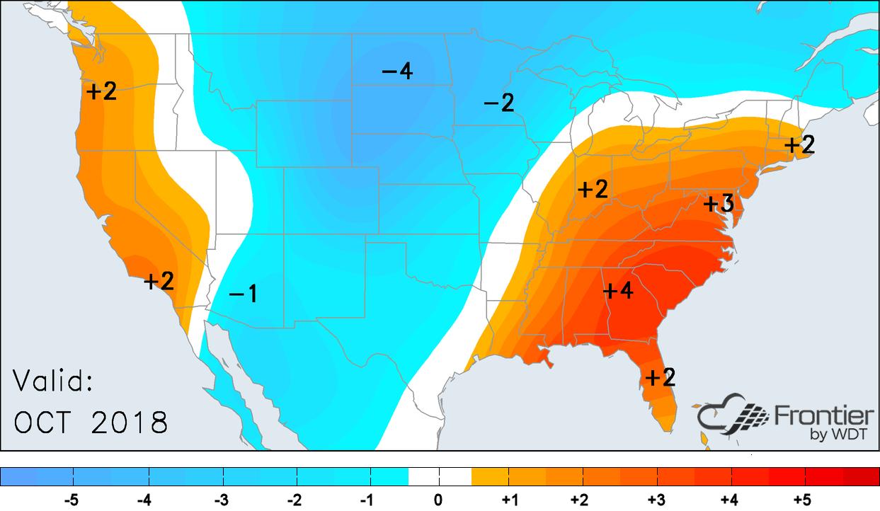 October Temperature Anomalies