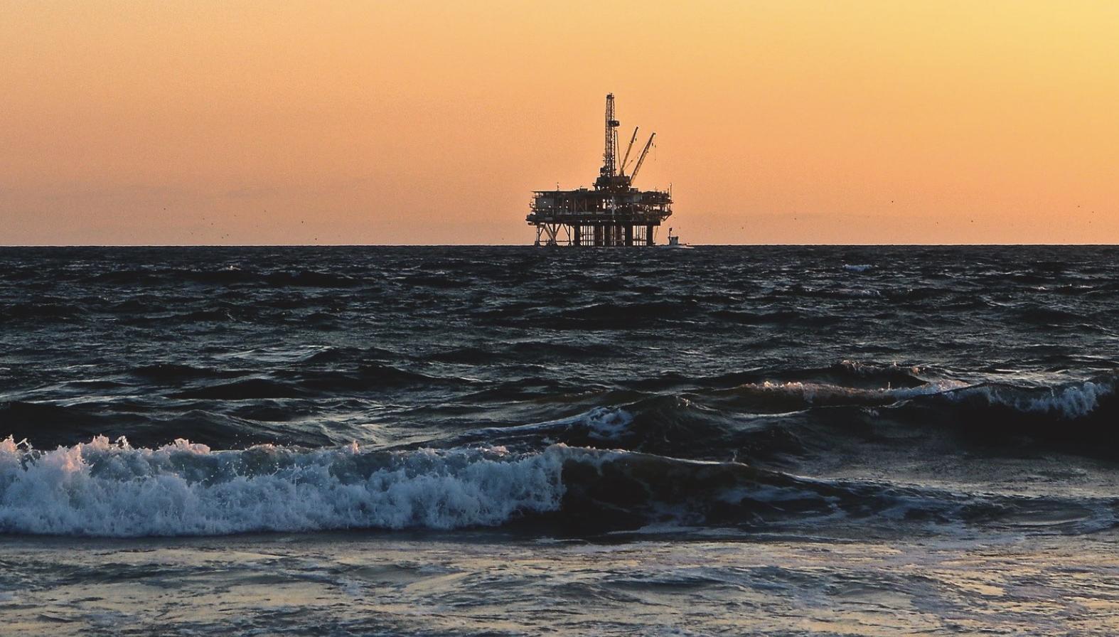 Oil Rig Waves