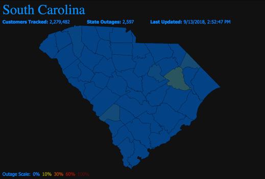 South Carolina Power Outages