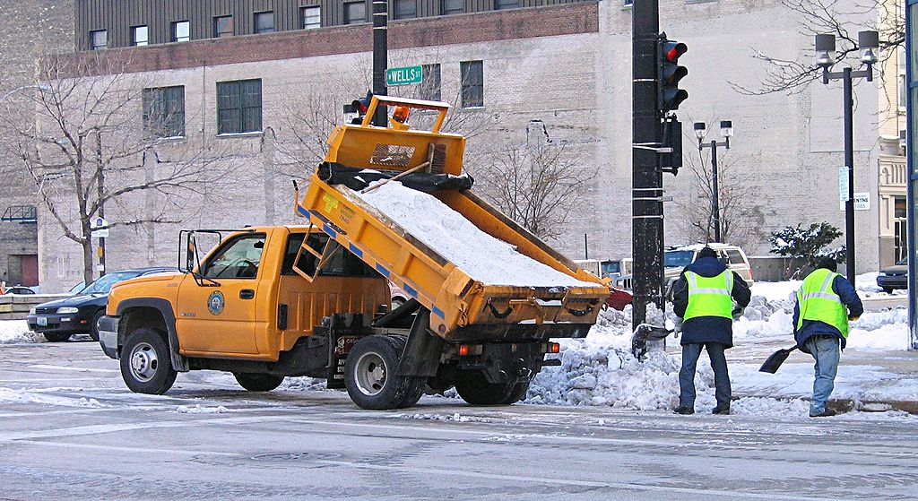 Salt Truck in Milwaukee