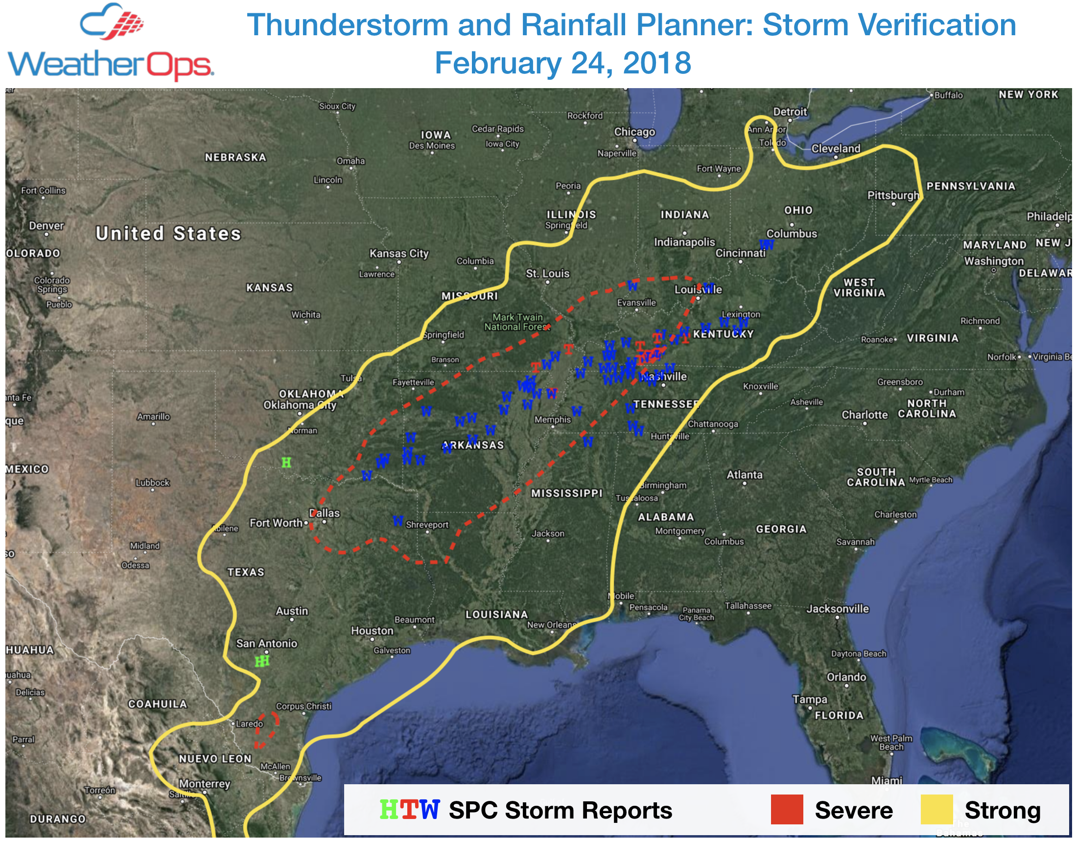 Thunderstorm Planner Verification 24 Feb 2018