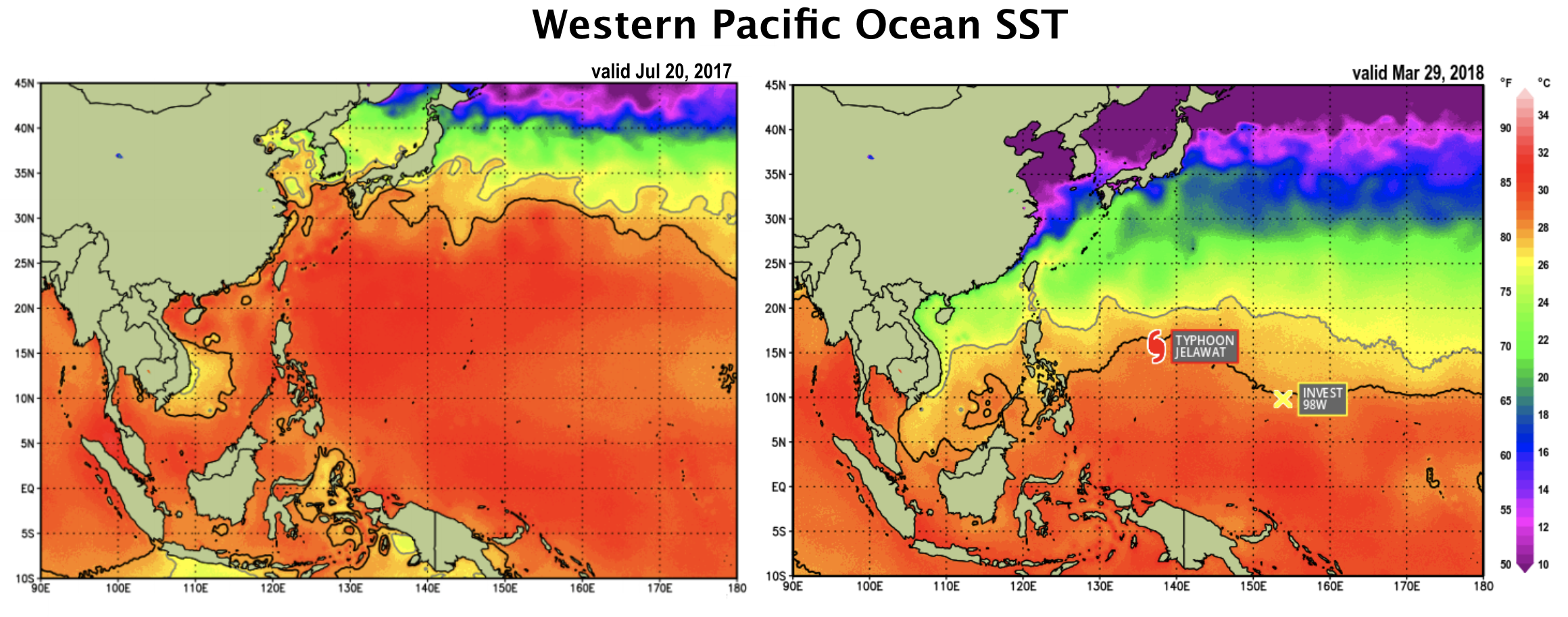 Updated West Pacific SSTs