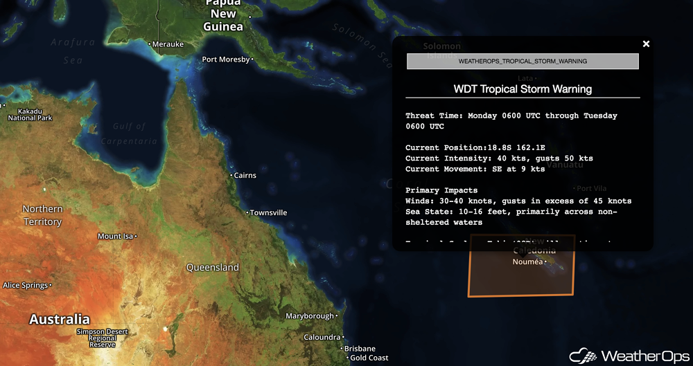 WeatherOps Tropical Storm Warning- Fehi