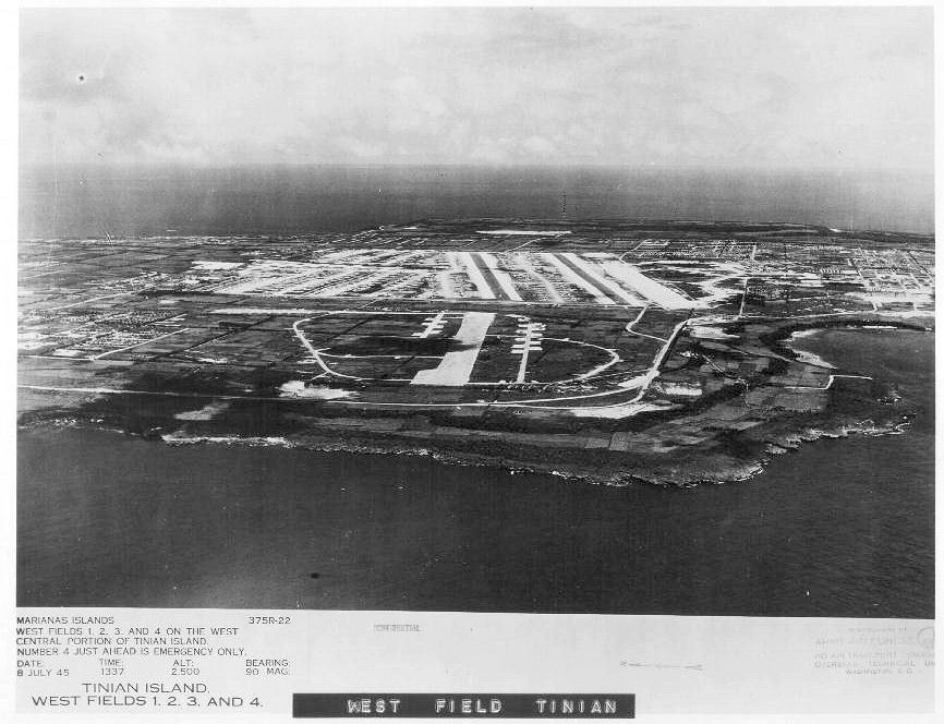 Westfield on Tinian- July 1945