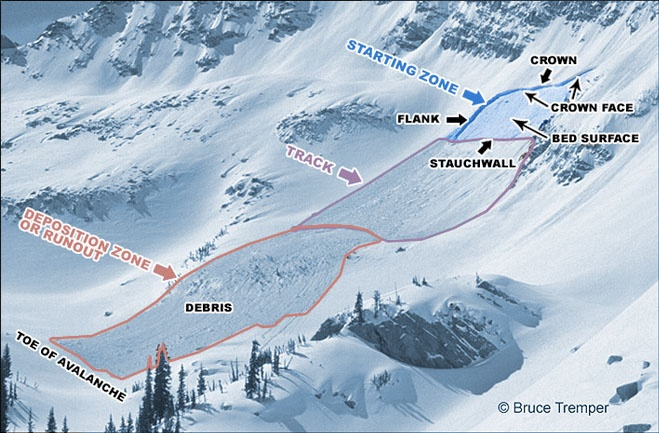 Schematic of Avalanche Path
