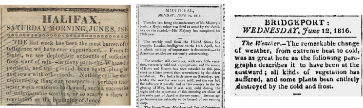 News Reports from June 1816