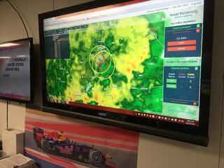 WDT WeatherOps in action inside the operations center in Texas