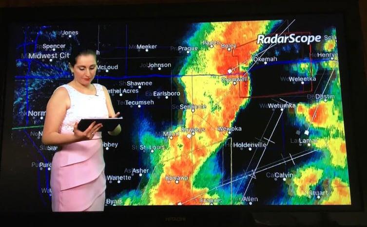 OKC Univision Using RadarScope