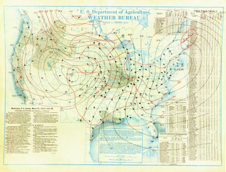 Easter 1913 Weather Bureau Map