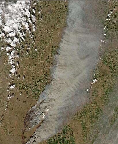 Kansas Fire High Res Satellite