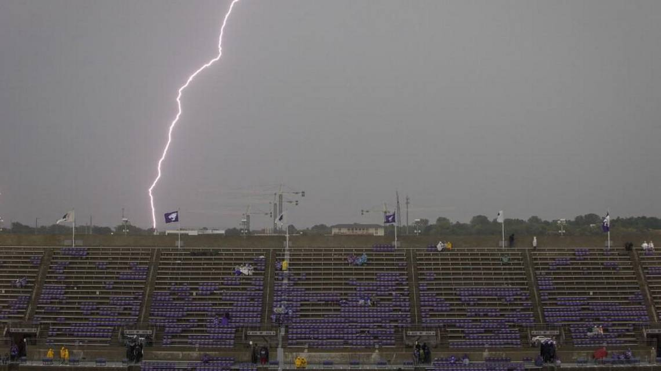 Lightning at TCU vs KSU Game