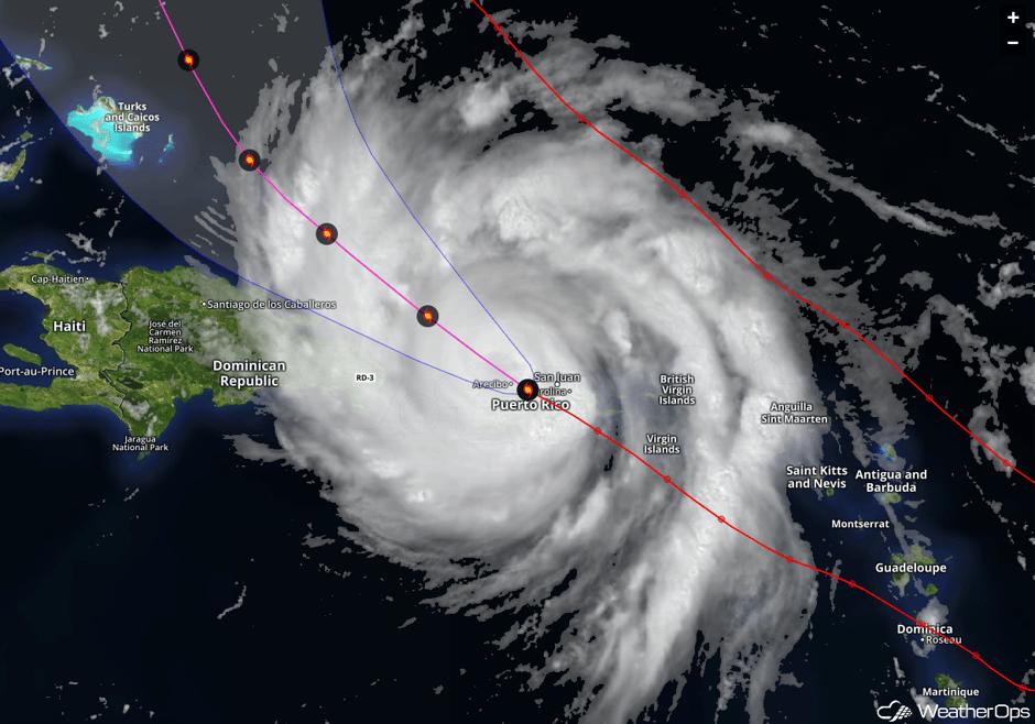 Maria Exiting Puerto Rico - Sept. 20, 2017