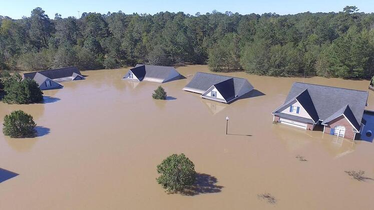 NC Neighborhood Under Water