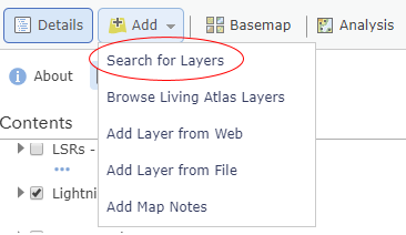 GIS Search for Layers