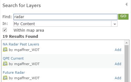 GIS Radar Layers