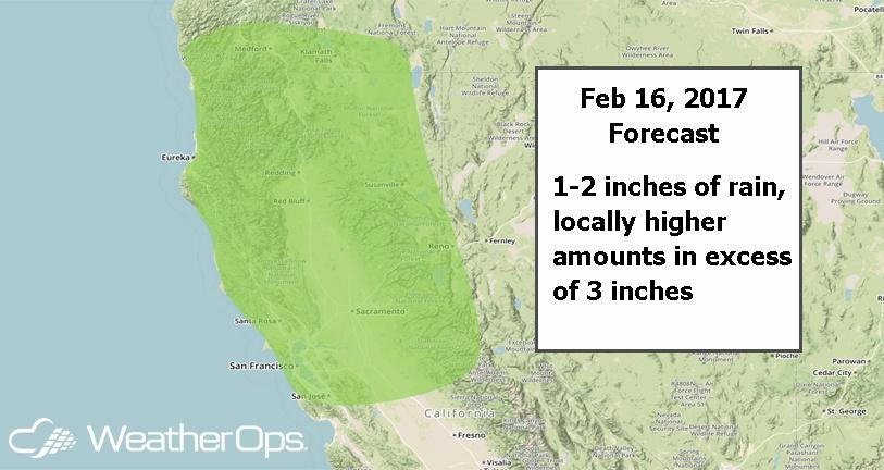 WeatherOps Forecast for Thursday, Feb. 16, 2017