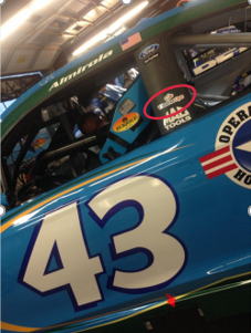 Car #43 with WeatherOps Logo