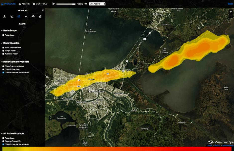 New Orleans Tornado Path