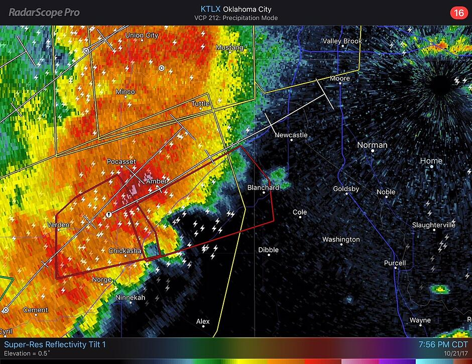 RadarScope- Blanchard Warning
