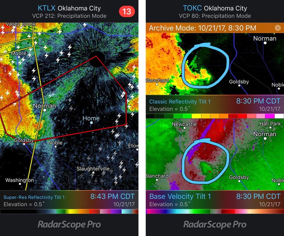 RadarScope- Norman Warning